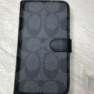Coach Signature  Folio Magnetic iPhone X  XS Case